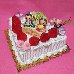 ひな祭りケーキ2019